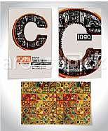 Ancient Business card design LETTER c