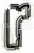 Font illustration. Letter r