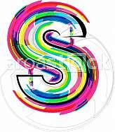 Font illustration, letter s
