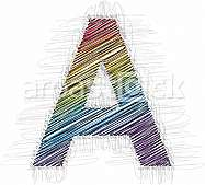 Hand draw font LETTER A